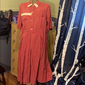 Vintage hand-made bespoke shirt dress from 1980s!